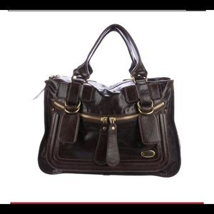 Chloe Leather Bay tote in brown